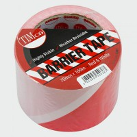 Barrier Tape Red / White 100M x 70mm NON ADHESIVE £4.15