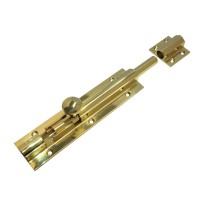 Architectural Barrel Bolt Heavy Duty Fulton & Bray 200mm x 50mm FB75 Polished Brass £37.49