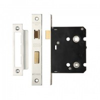 Zoo ZBC76SS 76mm Contract Bathroom Lock Satin Stainless Steel £7.55