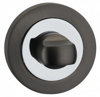 Fortessa Bathroom Turn & Release Gun Metal Grey & Polished Chrome £13.50
