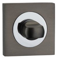 Fortessa Bathroom Turn & Release Square Rose Gun Metal Grey & Polished Chrome £13.50