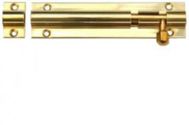 Barrel Bolt 75mm Straight Brass £2.79