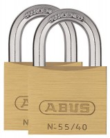 Abus 55/40-TWINS-C 40mm Padlocks Twin Pack Keyed Alike £19.33