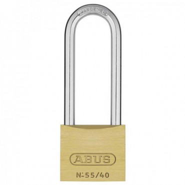 Abus 55/40HB63C 40mm Brass Long Shackle Padlock