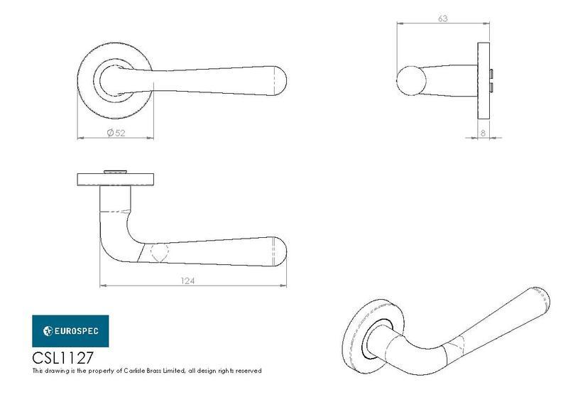Eurospec CSL1127 Door Handles