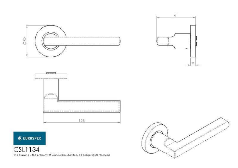 Eurospec CSL1134 Door Handles