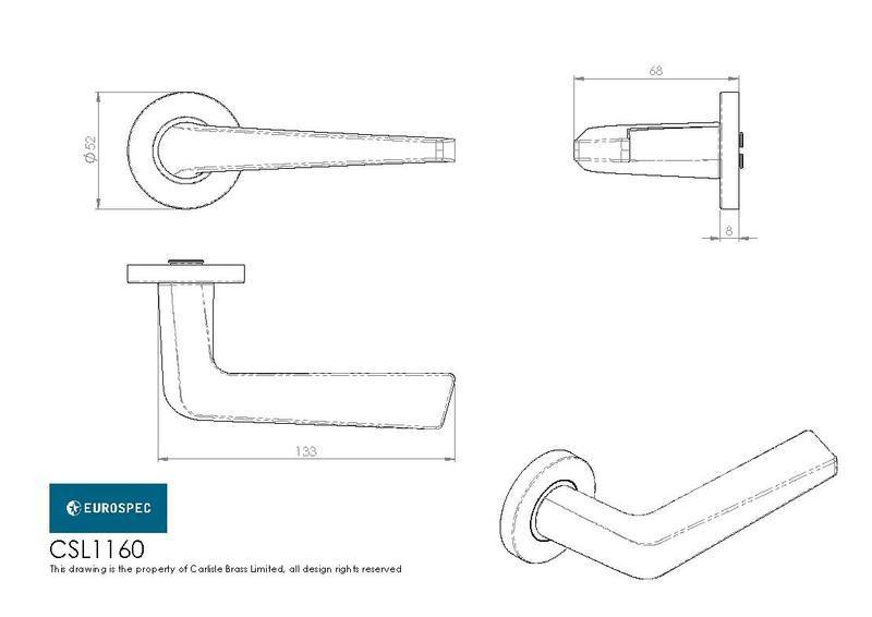 Eurospec CSL1160 Door Handles