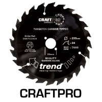 Trend Non-Stick Coated Circular Saw Blade CSB/TC25060 CraftPro TCT 250mm 60T 30mm £36.98