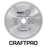 Trend Circular Saw Blade for Aluminium Plastic & Worktops CSB/AP250100 CraftPro TCT 250mm 100T 30mm £47.58