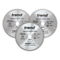 Trend Circular Saw Blades Craft Pro Triple Pack CSB/250/3PK 250mm x 48T - 60T - AP/84T x 30mm £85.25