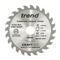 Trend Circular Saw Blade CSB/12040T CraftPro TCT 120mm 40T 20mm Thin £20.50