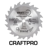 Trend Circular Saw Blade CSB/16540T CraftPro TCT 165mm 40T 20mm Thin £17.80