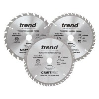 Trend Circular Saw Blades Craft Pro Triple Pack CSB/165/3PK/C 165mm x 24T - 40T x 20mm £34.14