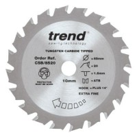 Trend Circular Saw Blade Craft Pro CSB/8520 85mm x 20T x 10mm £8.89