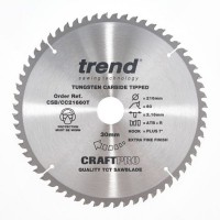 Trend Circular Saw Blade CSB/CC21660T CRaftPro TCT Crosscutting 216mm 60T 30mm £28.19