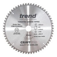 Trend Circular Saw Blade CSB/CC26060 CraftPro TCT Crosscutting 260mm 60T 30mm £36.34