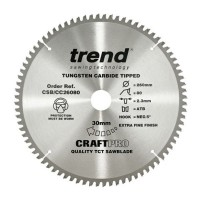 Trend Circular Saw Blade CSB/CC26080 CraftPro TCT Mitre Saw Crosscutting 260mm 80T 30mm £33.93