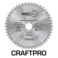 Trend Circular Saw Blade CSB/CC21548 CraftPro TCT Mitre Saw Crosscutting 215mm 48T 30mm £24.94