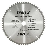 Trend Circular Saw Blade CSB/CC30560T CraftPro TCT Mitre Saw & Crosscutting 305mm 60T 30mm £37.34