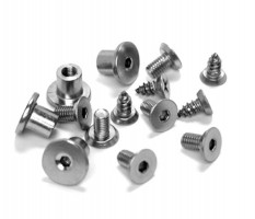 Cubicle Door Bolts Nuts & Screws Fixing Pack 13mm Board T190SM Grade 316 Satin Stainless £10.74