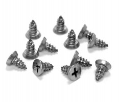 Cubicle Door Woodscrew Fixing Pack 13mm Board T170P Polished Stainless £2.02