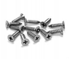 Cubicle Door Woodscrew Fixing Pack 20mm Board T171SM Grade 316 Satin Stainless £2.44