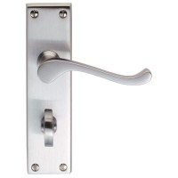 Carlisle Brass Door Handles DL54WCSC Victorian Scroll Bathroom Lock Satin Chrome £18.78