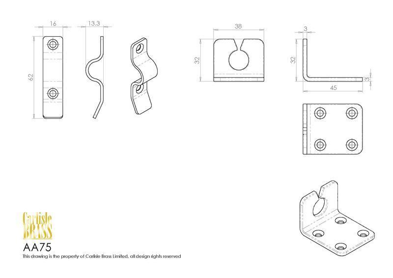 Carlisle Brass AA75 Brass Heavy Door Chain Dimensions