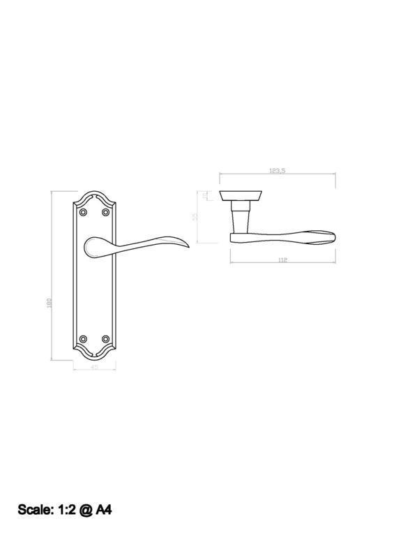 Carlisle Brass DL191SC Satin Chrome Door Handles Dimensions