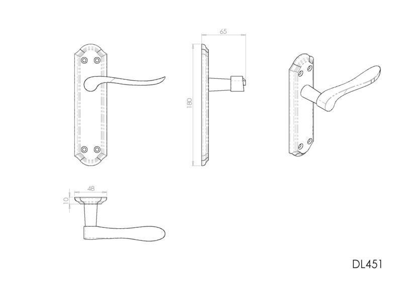 Carlisle Brass DL451SBPB Door Handles Dimensions