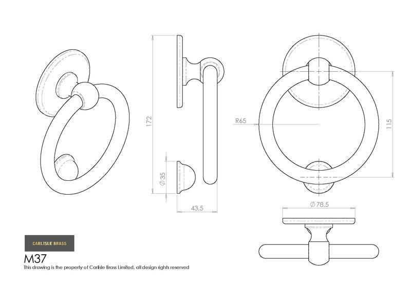 carlisle brass victorian ring door knocker m37sc satin