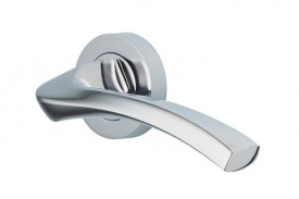 Door Handles Vision Designer Auva Lever on Round Rose Polished Chrome 5201 £13.26