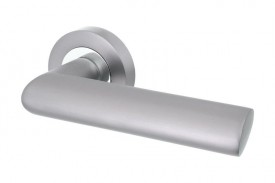 Door Handles Vision Designer Avior Lever on Round Rose Graphite & Polished Chrome 5202 £10.80