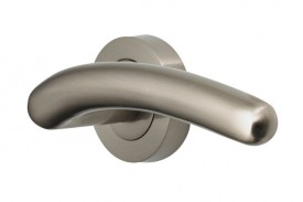 Door Handles Vision Designer Mira Lever on Round Rose Satin Nickel 5205 £13.26