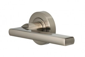 Door Handles Vision Designer Vela Lever on Round Rose Satin Nickel 5200 £13.26