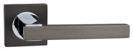 Door Handles on Square Rose Fortessa Gravity Gun Metal Grey & Polished Chrome £31.99