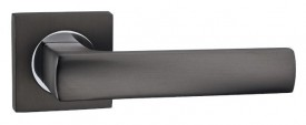 Door Handles on Square Rose Fortessa Omega Gun Metal Grey & Polished Chrome £31.99