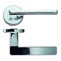 Zoo Door Handles Leon Lever on Push on Rose Polished Chrome £12.04