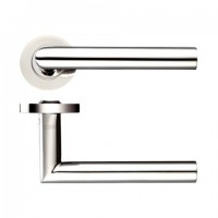 Zoo ZCS010PS 19mm Mitred Lever on Rose Door Handles G304 Polished Stainless Steel £13.41