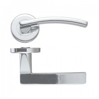 Zoo Door Handles Toledo Lever on Push on Rose Satin Chrome £16.47