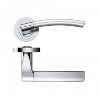 Zoo Door Handles Amalfi Lever on Screw on Rose Dual Finish Polished & Satin Chrome £15.78