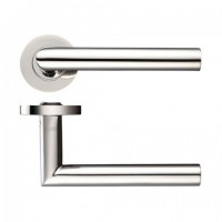 Zoo ZCS010SS 19mm Mitred Lever on Rose Door Handles G304 Satin Stainless Steel £13.41