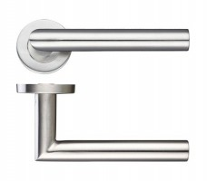 Zoo ZCS2010SS 19mm Mitred Lever on Rose Door Handles G201 Satin Stainless Steel £10.92