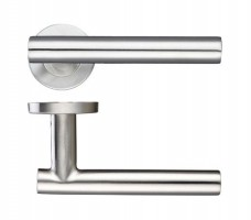 Zoo ZCS2130SS 19mm Straight T Bar Lever on Rose Door Handles G201 Satin Stainless Steel £16.57