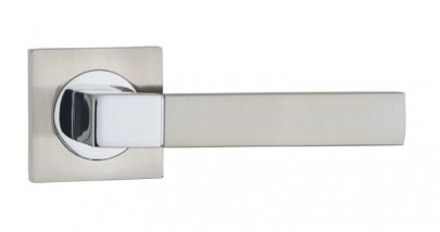 Door Handles on Square Rose Fortessa Ares SNP/PCP