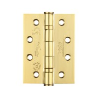 Ball Bearing Door Hinges Zoo Hardware 100 x 76mm Grade 13 PVD Brass per single £4.42