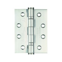 Ball Bearing Door Hinges Zoo Hardware 100 x 76mm Grade 13 Polished Stainless Steel per single £2.95