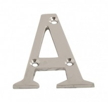 75mm Door Letter A Polished Chrome £2.40