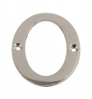 75mm Door Number 0 Polished Chrome £1.80