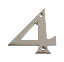 75mm Door Number 4 Polished Chrome £1.80